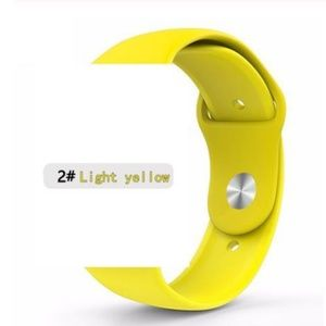 NEW Yellow Sport Silicone Band For Apple Watch